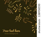angle vintage background.... | Shutterstock .eps vector #138958550