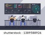 flat young men employee with... | Shutterstock .eps vector #1389588926