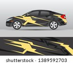 car wrap design vector  truck... | Shutterstock .eps vector #1389592703