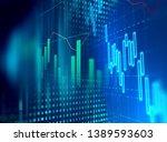financial graph on technology...   Shutterstock . vector #1389593603