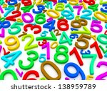 background of numbers. from... | Shutterstock . vector #138959789
