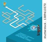 future business leader concept... | Shutterstock .eps vector #1389613370