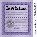 violet vintage invitation... | Shutterstock .eps vector #1389626936