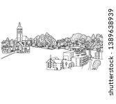 small village in europe vector... | Shutterstock .eps vector #1389638939
