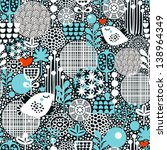 cute seamless pattern with snow ... | Shutterstock .eps vector #138964349
