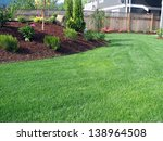 lawn area with planter | Shutterstock . vector #138964508