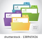file folder infographic element.... | Shutterstock .eps vector #138965426