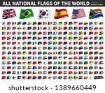 all national flags of the world ... | Shutterstock .eps vector #1389660449