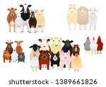 five livestock groups by purpose | Shutterstock .eps vector #1389661826