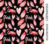 Seamless Pattern Of Cute Pink...