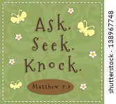 Ask  Seek  Knock Sign From...