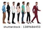 cool elegant man in burgundy... | Shutterstock . vector #1389686453