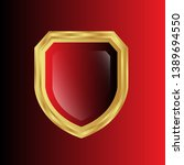 shield with golden frame.... | Shutterstock .eps vector #1389694550