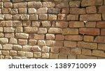 closeup texture of red brick...   Shutterstock . vector #1389710099