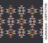 Ethnic boho seamless pattern. Striped figures. Patchwork texture. Weaving. Traditional ornament. Tribal pattern. Folk motif. Can be used for wallpaper, textile, invitation card, wrapping, web page.