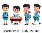 student boy vector character...   Shutterstock .eps vector #1389720380