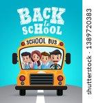 back to school vector design.... | Shutterstock .eps vector #1389720383