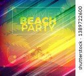 summer night party flyer.... | Shutterstock .eps vector #1389722600