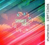 summer night party flyer.... | Shutterstock .eps vector #1389722606