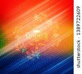 summer night party flyer.... | Shutterstock .eps vector #1389722609