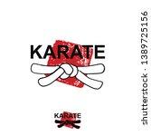 karate   vector stylized font... | Shutterstock .eps vector #1389725156