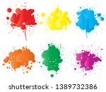 vector collection of artistic... | Shutterstock .eps vector #1389732386