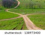 rural crossroad | Shutterstock . vector #138973400