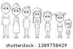 set of happy cartoon doodle... | Shutterstock .eps vector #1389758429