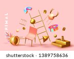chaos abstract background with... | Shutterstock .eps vector #1389758636
