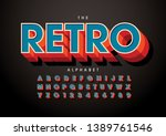 vector of stylized modern font... | Shutterstock .eps vector #1389761546
