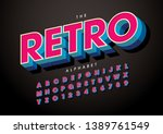 vector of stylized modern font... | Shutterstock .eps vector #1389761549