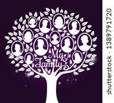 vector genealogy tree with... | Shutterstock .eps vector #1389791720