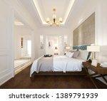 3d rendering luxury classic... | Shutterstock . vector #1389791939