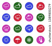 weather icons. set 2. white... | Shutterstock .eps vector #1389800279