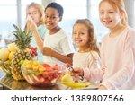 multicultural group of children ... | Shutterstock . vector #1389807566