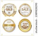 golden sale labels retro... | Shutterstock .eps vector #1389828290