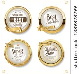golden sale labels retro... | Shutterstock .eps vector #1389828299