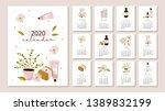 monthly calendar 2020. cute...   Shutterstock .eps vector #1389832199