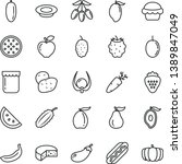 thin line vector icon set  ... | Shutterstock .eps vector #1389847049