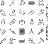 thin line vector icon set  ... | Shutterstock .eps vector #1389847343