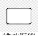 white marker board. whiteboard. ... | Shutterstock .eps vector #1389850496