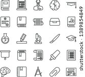 thin line vector icon set  ... | Shutterstock .eps vector #1389854849