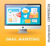 email marketing flat color icon....