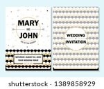 wedding invitation  thank you... | Shutterstock .eps vector #1389858929
