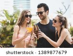 pool party summer concept ... | Shutterstock . vector #1389877679