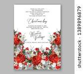 christmas party invitation... | Shutterstock .eps vector #1389896879