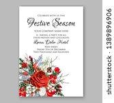 christmas party invitation... | Shutterstock .eps vector #1389896906