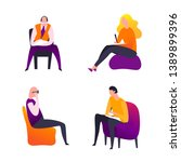psychologist  psychotherapist... | Shutterstock .eps vector #1389899396