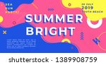 unique artistic summer cards... | Shutterstock .eps vector #1389908759