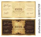 gift certificate   voucher... | Shutterstock .eps vector #138991709